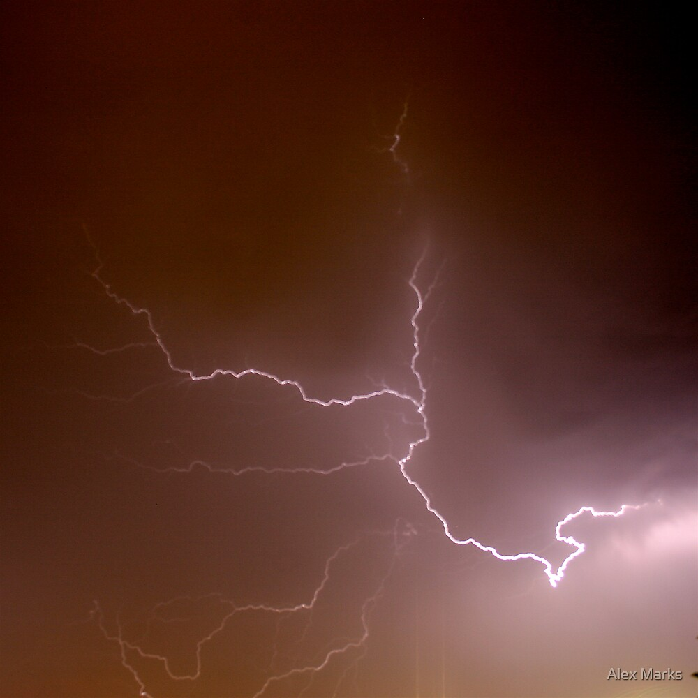 lightning crashes by Alex Marks