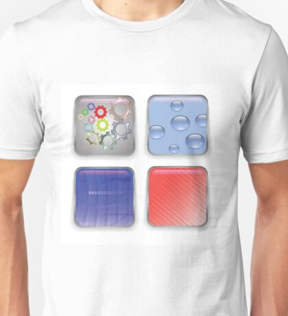 set of buttons Unisex T-Shirt