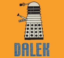 Retro Dalek - Light Blue Text by Mystalope