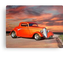 1934 Ford 'Copper Rod' Coupe Metal Print