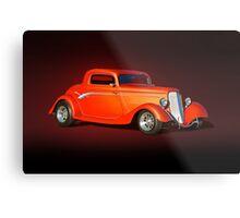 1934 Ford 'Copper Rod' Coupe Studio Metal Print