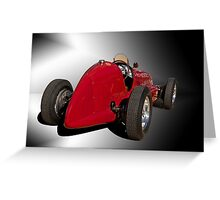 1939 Maserati 8CTF Race Car II Greeting Card