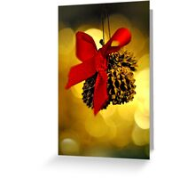 Tiny Christmas Cones Greeting Card