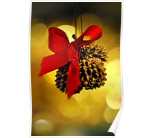 Tiny Christmas Cones Poster