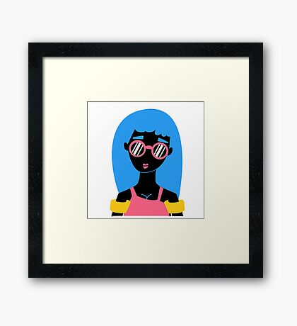 Girl in swimming suit Framed Print