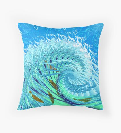 """Fractal: """"Playing in the surf"""" Throw Pillow"""