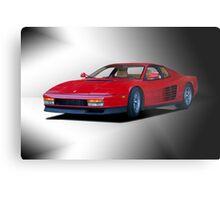 1987 Ferrari Testarossa 'Studio' II Metal Print
