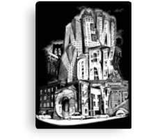 New York City Pencil by Tai's Tees Canvas Print