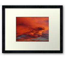 Flaming Colorado Sunset Framed Print