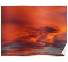Flaming Colorado Sunset Poster