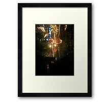 New Years Eve Fireworks Framed Print