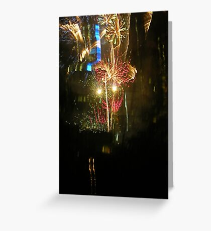 New Years Eve Fireworks Greeting Card
