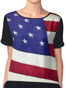 Stars and Stripes 4Ever Chiffon Top