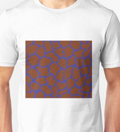 Blue (Pigment) in Giraffe Pattern  Unisex T-Shirt