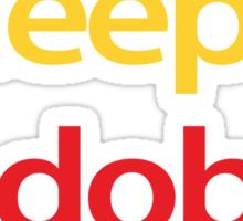 Eat Sleep Adobe Suite Sticker