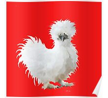 Silly Silkie Chicken Poster