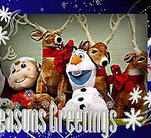 An Olaf and Reindeer Season's Greetings by Jane Neill-Hancock