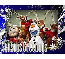 An Olaf and Reindeer Season's Greetings Photographic Print