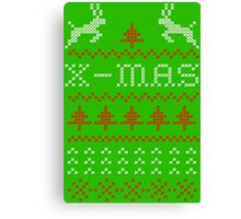 Merry Christmas / x-mas knit design ugly Canvas Print
