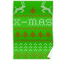 Merry Christmas / x-mas knit design ugly Poster