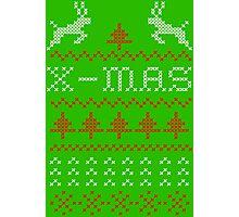Merry Christmas / x-mas knit design ugly Photographic Print