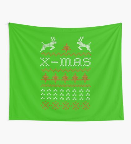 Merry Christmas / x-mas knit design ugly Wall Tapestry