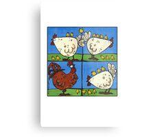 Chickens Metal Print