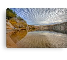 Blue Lake - St Bathans reflections Metal Print