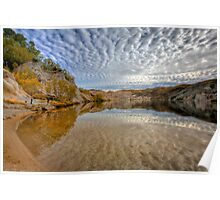 Blue Lake - St Bathans reflections Poster