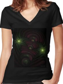 Hysteria. Abstract by Danilo Lian. Women's Fitted V-Neck T-Shirt