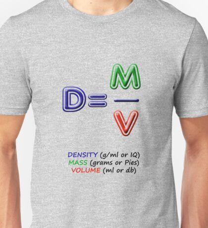 2 types of density. Same equation Unisex T-Shirt