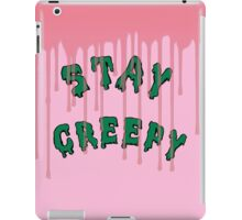 Stay Creepy (pink drip) iPad Case/Skin
