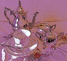 Pink teaset by goanna