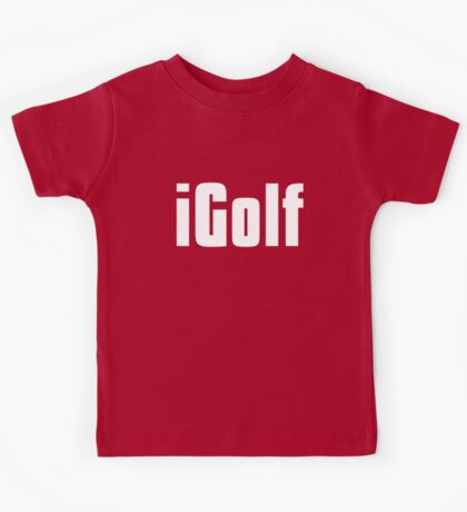 Funny Golfing T Shirt Kids Tee
