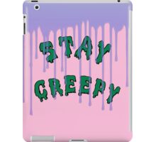 Stay Creepy (blue drip) iPad Case/Skin