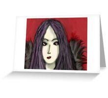 Angel Of Darkness Greeting Card