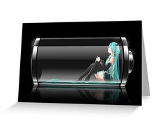 Vocaloid - Hatsune Miku Battery Greeting Card