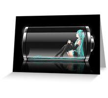 Vocaloid - Hatsune Miku Battery Greeting Card