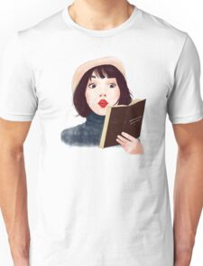 French woman with book Unisex T-Shirt
