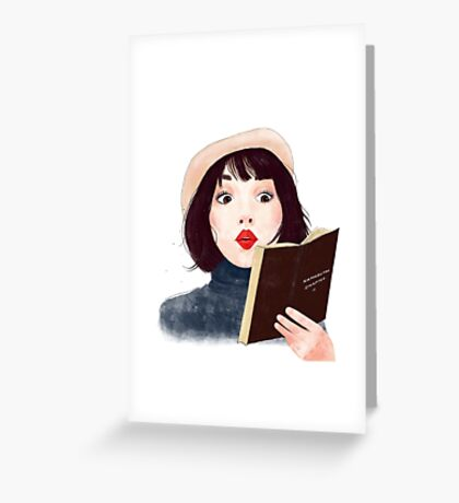 French woman with book Greeting Card