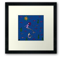 Silly Mermaid Framed Print