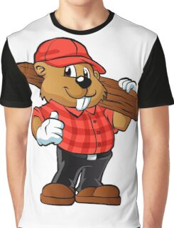 Beaver holding a plank of wood Graphic T-Shirt