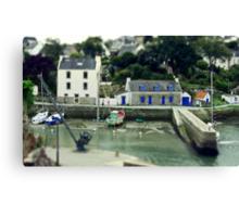 Port du Bono Brittany France - Tilt Shift Effect Canvas Print