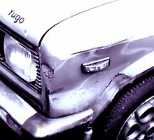 Dented car by Tracey Hudd