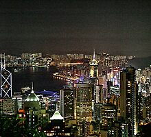 Hong Kong - View from the peak by sparrowhawk