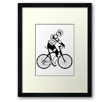 Biker Scout on a Bicycle - Biker Scout Bike - Star Wars Biker Scout Framed Print