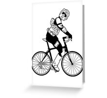 Biker Scout on a Bicycle - Biker Scout Bike - Star Wars Biker Scout Greeting Card