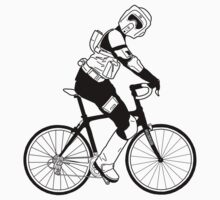 Biker Scout on a Bicycle - Biker Scout Bike - Star Wars Biker Scout T-Shirt