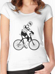 Biker Scout on a Bicycle - Biker Scout Bike - Star Wars Biker Scout Women's Fitted Scoop T-Shirt