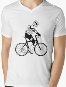Biker Scout on a Bicycle - Biker Scout Bike - Star Wars Biker Scout Mens V-Neck T-Shirt